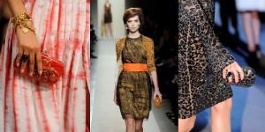 Défilé de mode avec accessoires, pochettes, minaudières