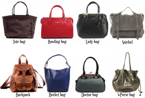 Bags : the different types of bags and how to wear it.