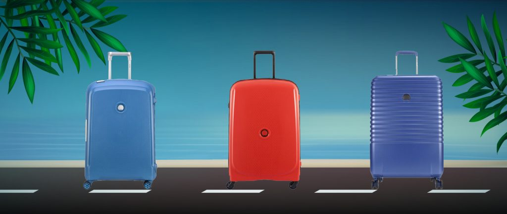 Delsey suitcases summer colorful